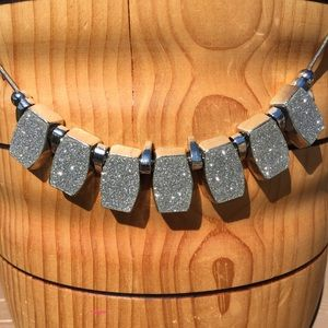 Sparkly Silver Toned Necklace